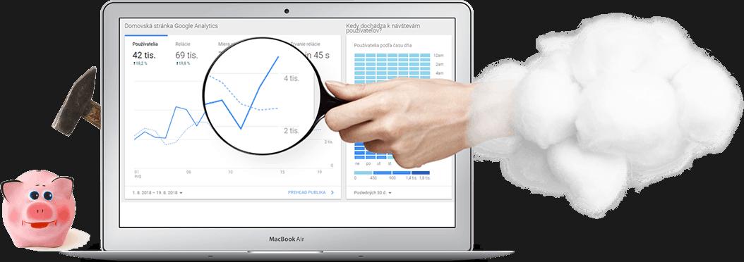 tvorba e-shopu, meranie