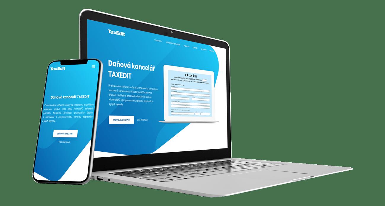 Zobrazenie responzívne webové stránky redesign